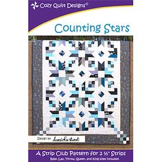 Pattern~Counting Stars Quilt Pattern by Cozy Quilt Designs
