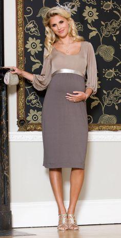 Bridesmaid baby bump.  Sienna Maternity Dress (Dusk) by Tiffany Rose