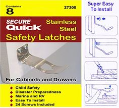 Cabinet Door Safety Latch Secure Quick http://www.amazon.com/dp/B00022FLDM/ref=cm_sw_r_pi_dp_0Vspwb1FDXYGM