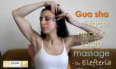 Guasha self face, neck & scalp massage - 3 tools / Γκουασα αυτομασάζ προ...