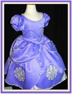 "Sofia The First Ball gown. Adult sizes, up tp 40"" chest. by CostumeKids on Etsy"