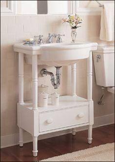 Wide Base Pedestal Sink : Pedestal Sink with 4