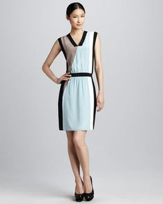 Colorblock Day Dress by Raoul at Neiman Marcus.