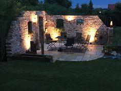 New Outdoor Patio Wall Art House Ideas Patio Pergola, Pergola Swing, Backyard Patio, Pergola Ideas, Patio Ideas, Rustic Gardens, Outdoor Gardens, Garden Planters, Indoor Garden