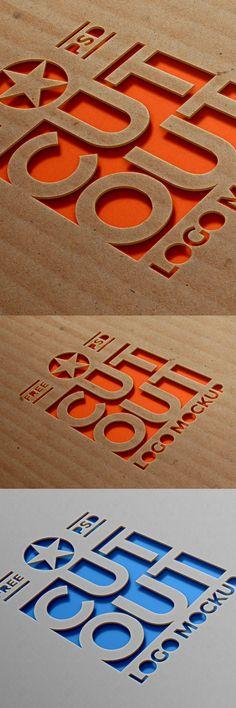 Free Cardboard Cutout Logo Mockup (42.4 MB) | graphicsfuel.com | #free #photoshop #mockup