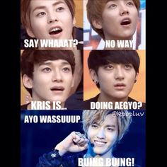 Just think !! Kris and aegyo!!!