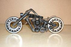 Metal Art Harley Type Cruiser Street Bikes 8 1/2 by AjaxMetalWerx
