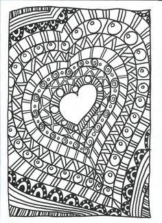 lorsqu'on ressent le soutien des autres nous envelopper... Coloring Book Pages, Printable Coloring Pages, Coloring Pages For Kids, Zen Doodle, Doodle Art, Valentines Art, Valentine Hearts, Heart Template, Doodles Zentangles