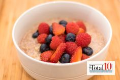 Total 10 Hot Quinoa Porridge: Get the boost you need to start your day with this warm and filling breakfast.