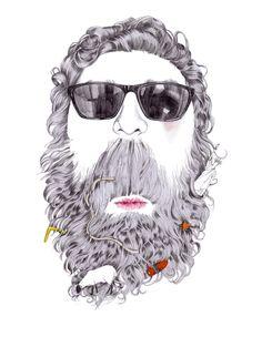 Beard.  Illustration by Sarah Egbert Eiersholt