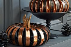 Easy DIY pumpkins that make seriously glam decor for fall