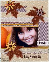 Fall leaf layout made with #GlueArts adhesives, #Core-dinations papers and designed by @Audrey Pettit