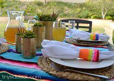 Piñata Inspired Napkin Rings for Cinco de Mayo