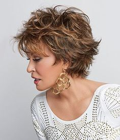 Browse our Short Wigs for women. Short wigs above the shoulder to bobs and boys cuts in straight, wavy to curly styles. Short Wigs, Short Curly Hair, Short Hair Cuts, Curly Hair Styles, Pixie Cuts, Raquel Welch Wigs, Short Shag Hairstyles, Layered Hairstyles, Natural Hairstyles