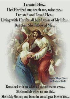 God gave Him to Mary, and Mary gave Him to the world. Catholic Religion, Catholic Quotes, Catholic Prayers, Catholic Saints, Religious Quotes, Roman Catholic, Christianity Quotes, Catholic Catechism, Spirituality