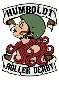 Redwood Rollers Roller Derby Logo