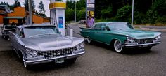 1959 Buick Electras in Silver Birch (Left) and Glacier Green (Right).