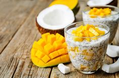 Take your tastebuds to the tropics with this Coconut Mango Chia Pudding, packed with nutrients and fresh flavours making it the perfect sweet snack or light after dinner dessert :) Serves 2 Ingredient