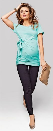 Mocha Bow Brown Sleeveless Maternity Solid Top Blouse Tee Summer Pregnancy Top