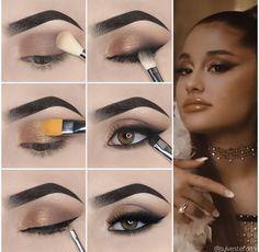 Simple Makeup Looks, Makeup Eye Looks, Simple Eye Makeup, Natural Eye Makeup Step By Step, Simple Eyeshadow Tutorial, Cute Eye Makeup, Eyeshadow Step By Step, Smokey Eye Makeup Tutorial, Face Makeup