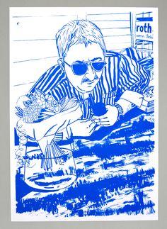 Reportage über den Campingplatz in Sarnen. Mit 23 Portraitillustrationen in 9 Schachteln verpackt. 2013 Reportage, Portrait, Cobalt, Illustration, Painting, Fictional Characters, Art, Photography, Campsite