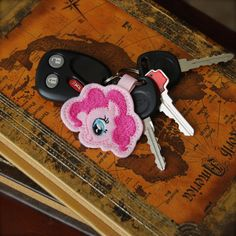 Hey, I found this really awesome Etsy listing at https://www.etsy.com/listing/213064630/on-sale-pinkie-pony-key-chain-fob