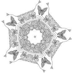 Dream with Mandalas coloring book Butterflies Design 6