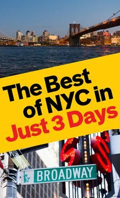 Travel tips for visiting New York City on a 3-day weekend.   Things to do in NYC
