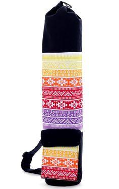 Rainbow Aztec Yoga Mat Bag