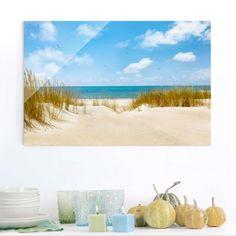 Glasbild #Strand - Strand an der #Nordsee - Strandbild Quer 2:3 #Glasbild #Glasbilder #brillante #Bilder für #Küche und #Bad #edel #hochwertig #Glas #Bild