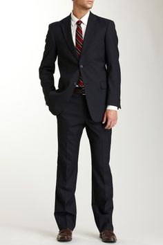 Tommy Hilfiger Nathan Navy Pin Dot Two Button Suit