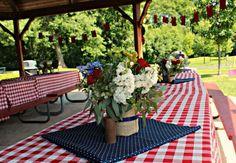 Boys Picnic Themed Birthday Party Table Decoration Ideas