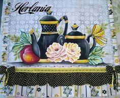 Resultado de imagem para pintura em tecido  cozinha