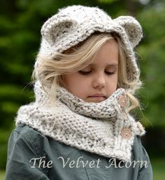 KNITTING PATTERN - Polarynn Bear Set (12/18 month - Toddler - Child - Adult sizes)