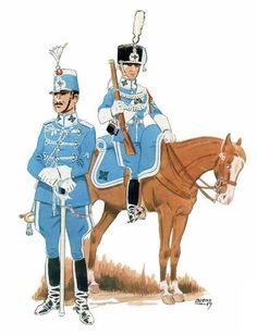 Regimiento de Caballería Cazadores de Alcantara nº 14 1909-22 Trompeta y batidor