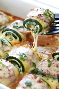 15 Vegetarian Recipes You Can Meal Prep for the Week Zucchini Rollatini is a delicious, cheesy, veggie-loaded dish! Made with strips of grilled zucchini rolled with a basil-cheese filling, marinara and mozzarella. carb recipes for dinner Low Carb Recipes, Cooking Recipes, Healthy Recipes, Easy Recipes, Cheap Recipes, Salad Recipes, Cooking Corn, Cooking Fish, Cleaning Recipes