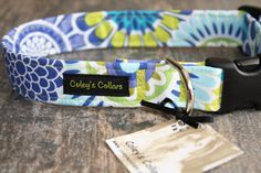 Dog Collar The Chelsea Mutli Colored Floral Dog by ColeysCollars