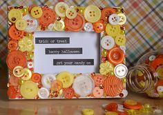 Halloween Button Frame with 28 Lilac Lane embellishments by May Flaum