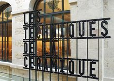 national porcelain museum adrien dubouché, limoges. font design and signage by atelier ter bekke & behage