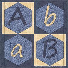 2016 Quilt BOM: Helen Pinkster Hexagon Alphabet