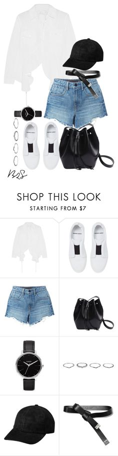 """#717"" by blendingtwostyles ❤ liked on Polyvore featuring Marques'Almeida, Pierre Hardy, Alexander Wang, Rachael Ruddick, Nixon, New Look and Marni"