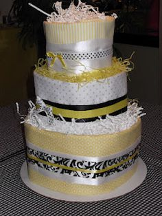Diaper Cake - get flannel blankets from target that have primary colors with the chevron in it!