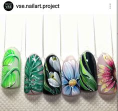 The Most Popular Nail Shapes – NaiLovely Best Nail Art Designs, Beautiful Nail Designs, Nail Art Fleur, Japan Nail Art, Jasmine Nails, Garra, Different Nail Shapes, Crazy Nail Art, Acrylic Nail Shapes