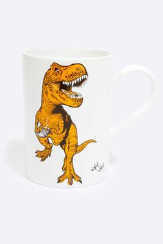 Tea-Rex mug, perfect for a morning cuppa. Exactly like my grouchy self in the morning
