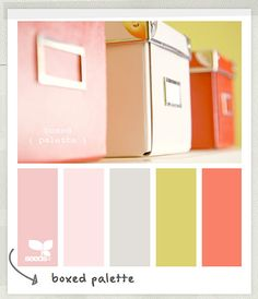 pretty  Color Palette - Paint Inspiration- Paint Colors- Paint Palette- Color- Design Inspiration