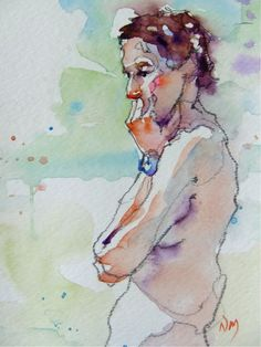 don't over think it - watercolour by Nora MacPhail