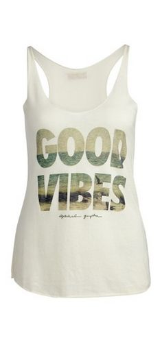 Good Vibes Tri-Blend Tank--perfect for yoga