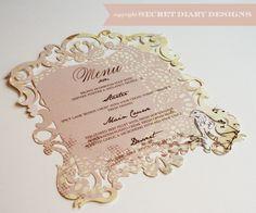 laser invitations | Menu-lasercut-ornate-frame-pink-fullscreen