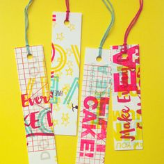 One-of-a-kind letterpress bookmarks // Sarah & Maude