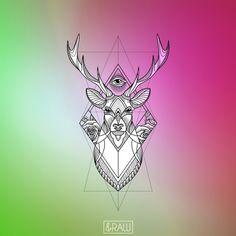 Deer mandala forearm tattoo / design for Jon W. G.